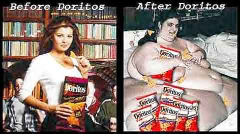 Before and After Doritos