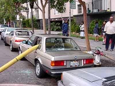 Hosed BMW